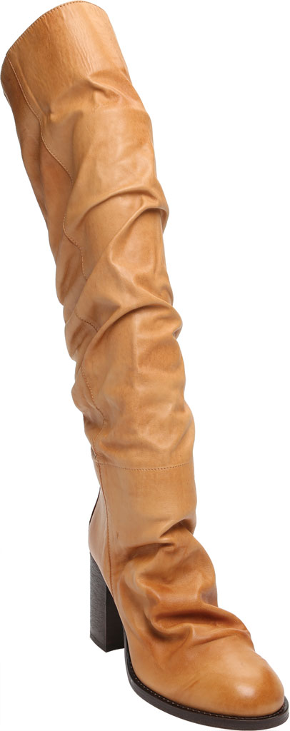 Women's Free People Elle Tall Slouch Boot, Taupe Burnished Leather, large, image 1