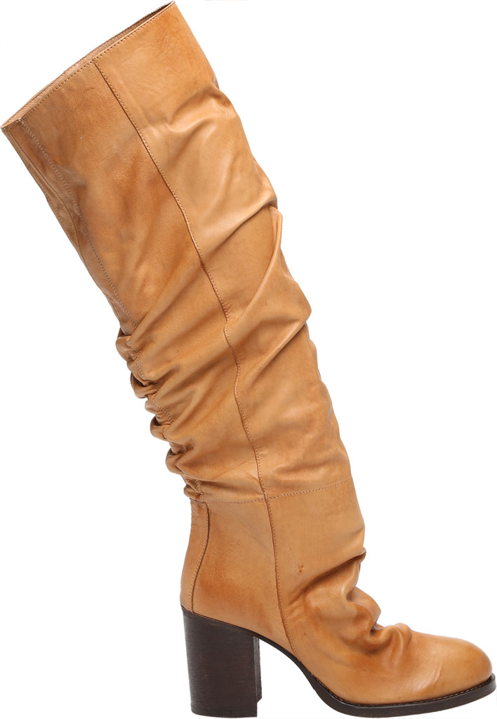 Women's Free People Elle Tall Slouch Boot, Taupe Burnished Leather, large, image 2