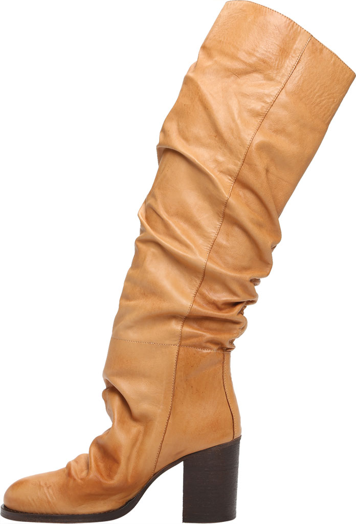 Women's Free People Elle Tall Slouch Boot, Taupe Burnished Leather, large, image 3