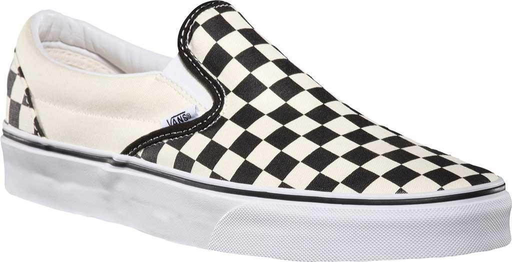 Vans Classic Slip-On, Black/White Checkerboard/White, large, image 1