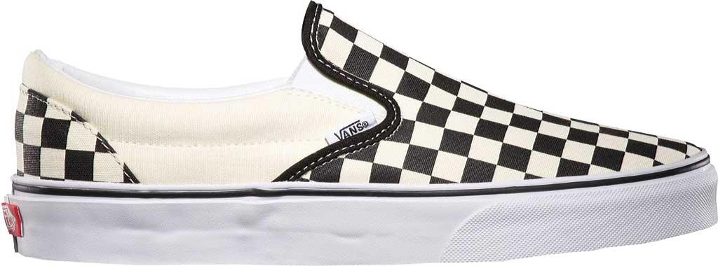 Vans Classic Slip-On, Black/White Checkerboard/White, large, image 2