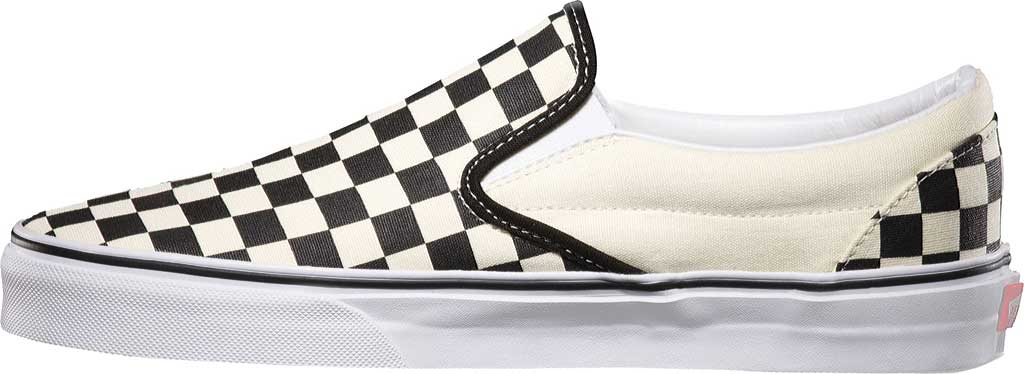 Vans Classic Slip-On, Black/White Checkerboard/White, large, image 3