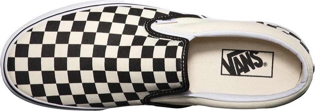 Vans Classic Slip-On, Black/White Checkerboard/White, large, image 6