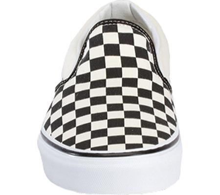 Vans Classic Slip-On, Black/White Checkerboard/White, large, image 4