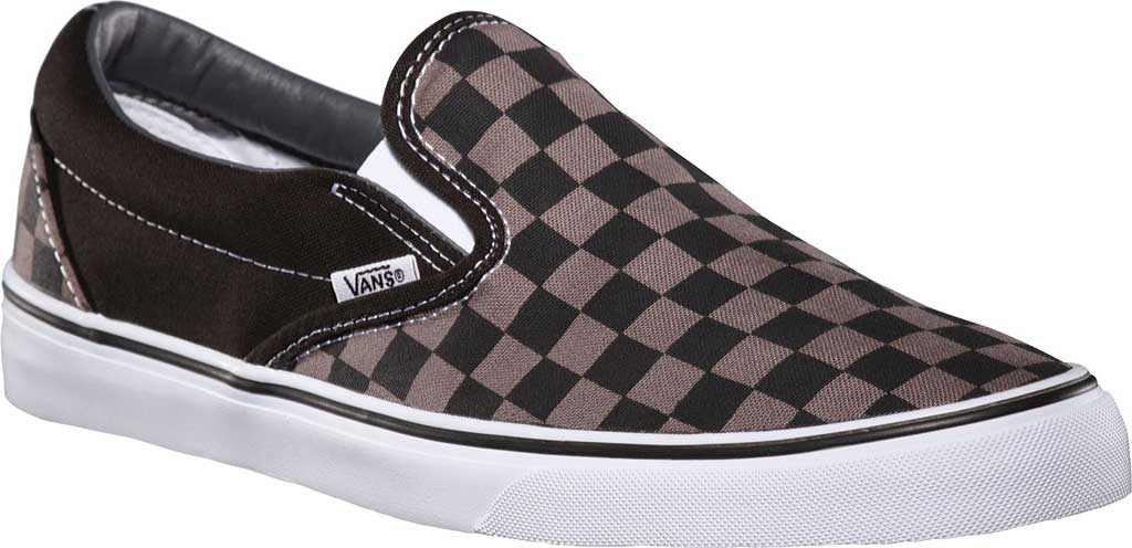 Vans Classic Slip-On, Black/Pewter Checkerboard, large, image 1