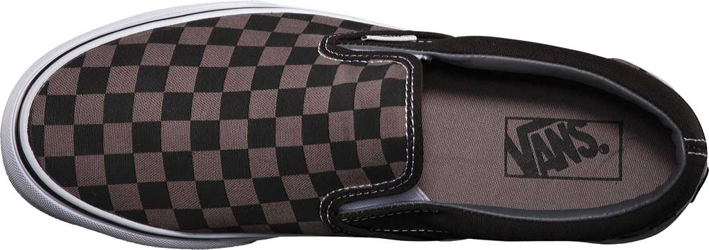 Vans Classic Slip-On, Black/Pewter Checkerboard, large, image 6
