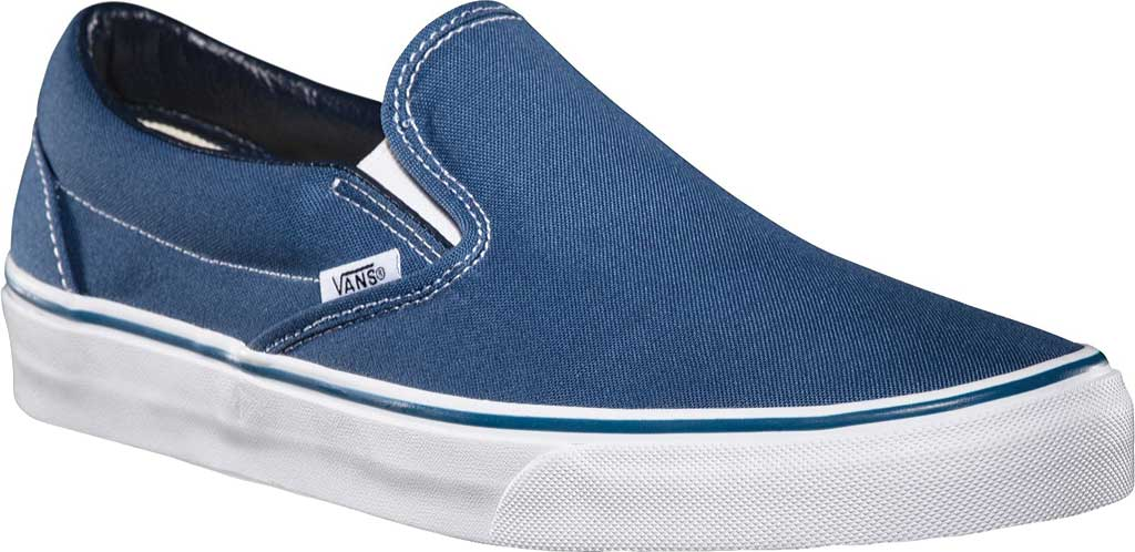 Vans Classic Slip-On, Navy, large, image 1