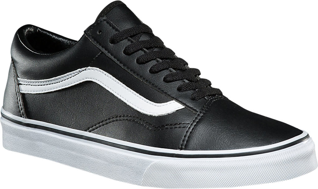 Vans Old Skool Sneaker, Classic Tumble Black Synthetic/True White, large, image 1