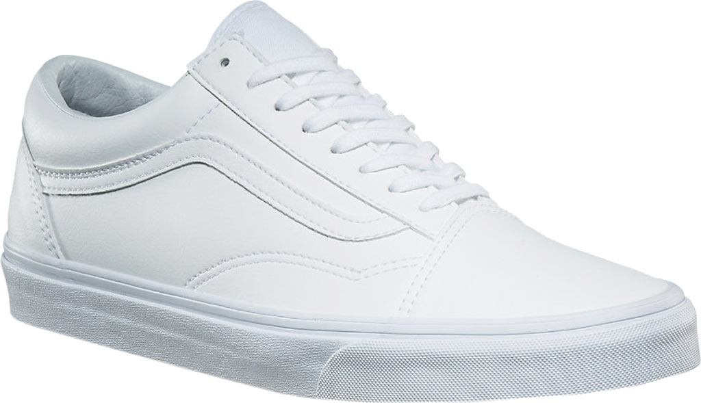 Vans Old Skool Sneaker, Classic Tumble True White Synthetic, large, image 1