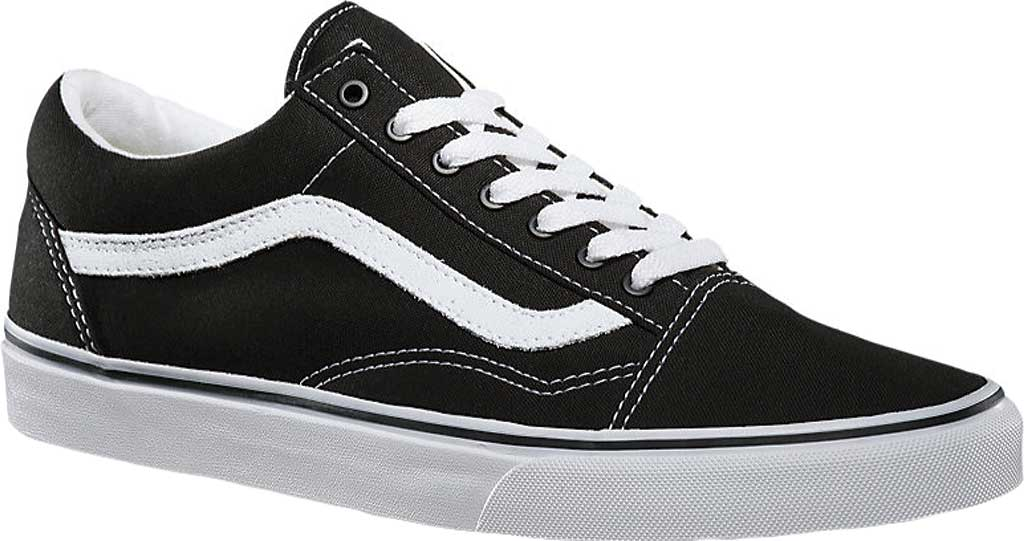 Vans Old Skool Sneaker, Black/True White (Canvas), large, image 1