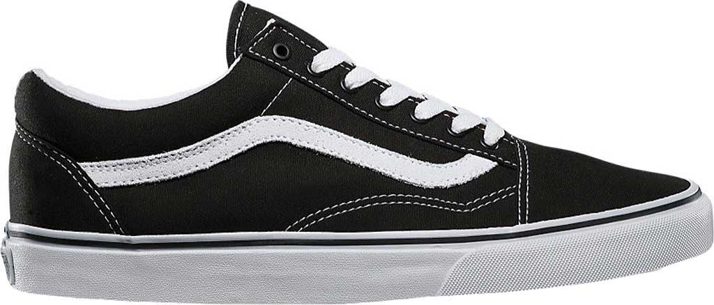 Vans Old Skool Sneaker, Black/True White (Canvas), large, image 2