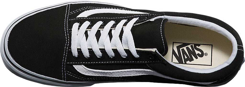 Vans Old Skool Sneaker, Black/True White (Canvas), large, image 4