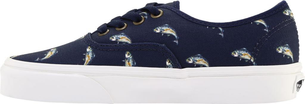 Vans Authentic Sneaker, Dress Blues Canvas/Fish, large, image 3