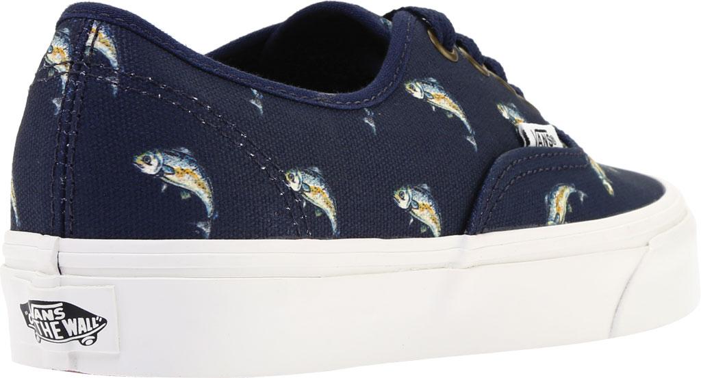 Vans Authentic Sneaker, Dress Blues Canvas/Fish, large, image 4