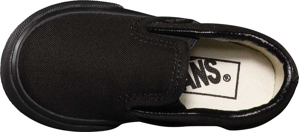 Infant Vans Classic Slip-On, Black/Black, large, image 4