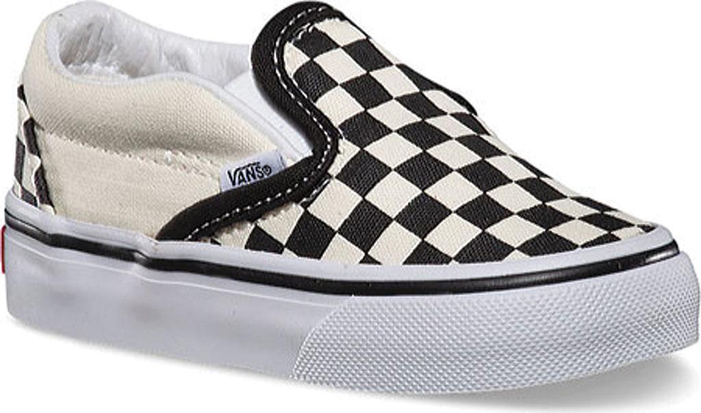 Infant Vans Classic Slip-On, Black/White Checker/White, large, image 1