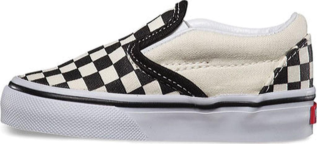 Infant Vans Classic Slip-On, Black/White Checker/White, large, image 3