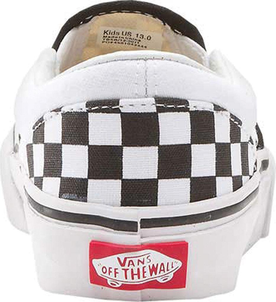 Infant Vans Classic Slip-On, Black/White Checker/White, large, image 4
