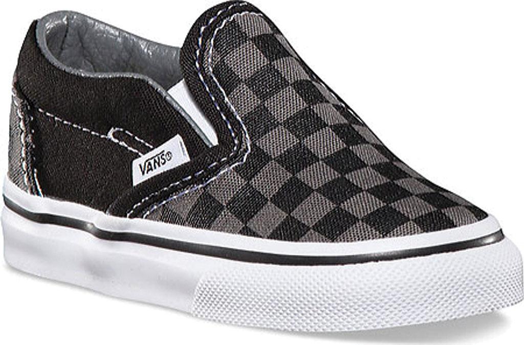Infant Vans Classic Slip-On, Black/Pewter Checker/Black, large, image 1