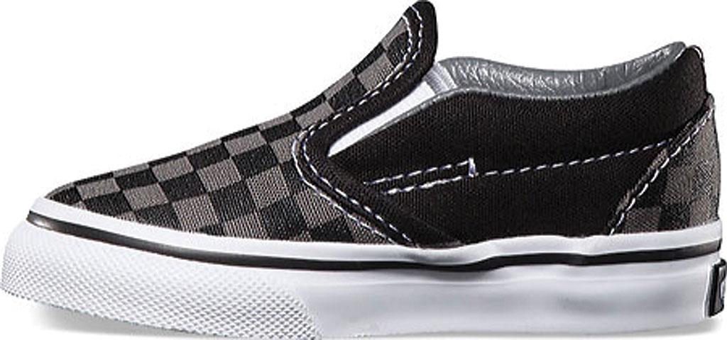 Infant Vans Classic Slip-On, Black/Pewter Checker/Black, large, image 3