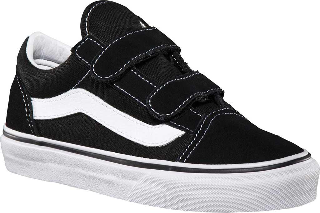 Children's Vans Old Skool V, Black/True White, large, image 1