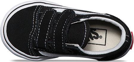 Infant Vans Old Skool V, Black, large, image 4