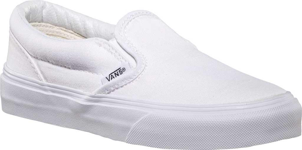 Children's Vans Classic Slip-On, True White, large, image 1