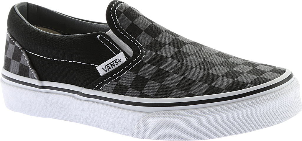 Children's Vans Classic Slip-On, Checkerboard Black/Pewter, large, image 1