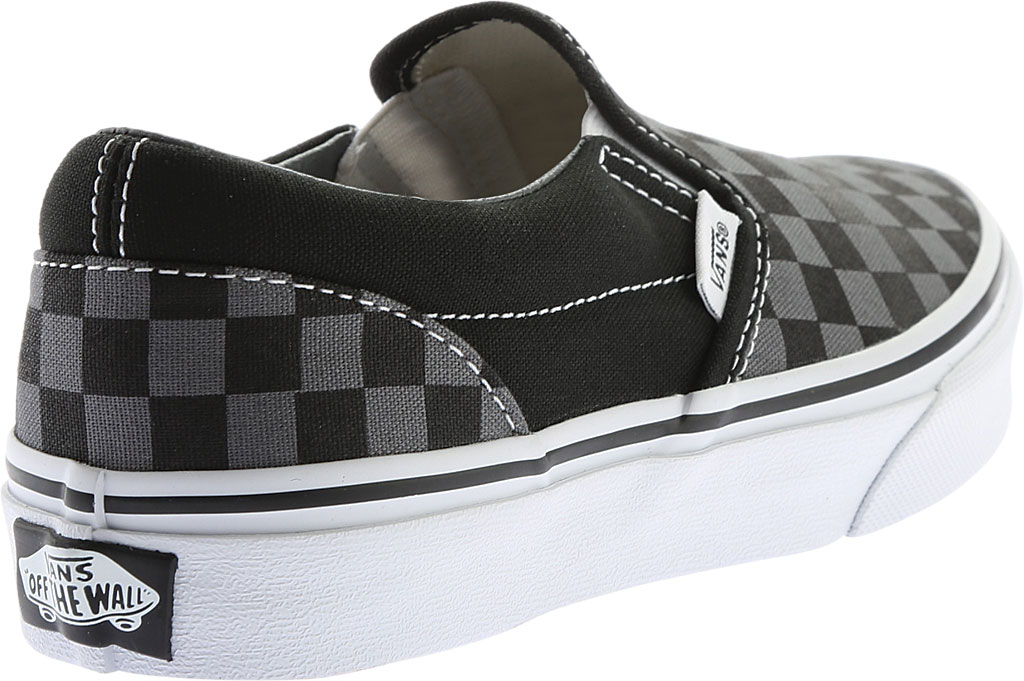 Children's Vans Classic Slip-On, Checkerboard Black/Pewter, large, image 4