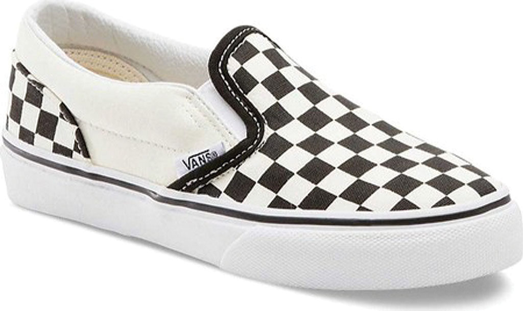 Children's Vans Classic Slip-On, Checkerboard Black/Classic White, large, image 1