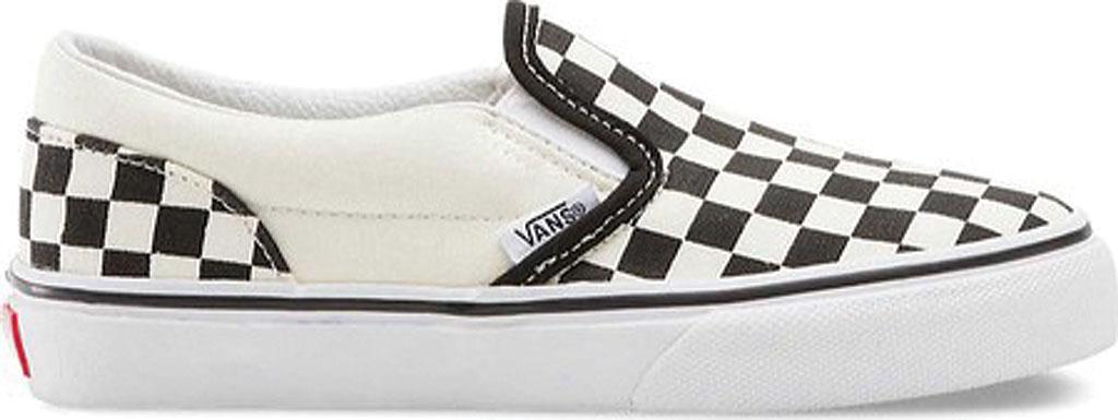Children's Vans Classic Slip-On, Checkerboard Black/Classic White, large, image 2