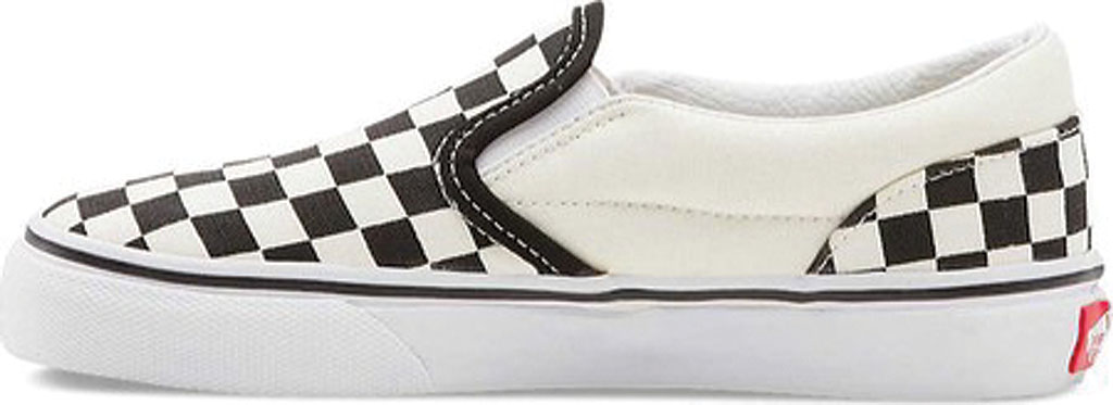 Children's Vans Classic Slip-On, Checkerboard Black/Classic White, large, image 3
