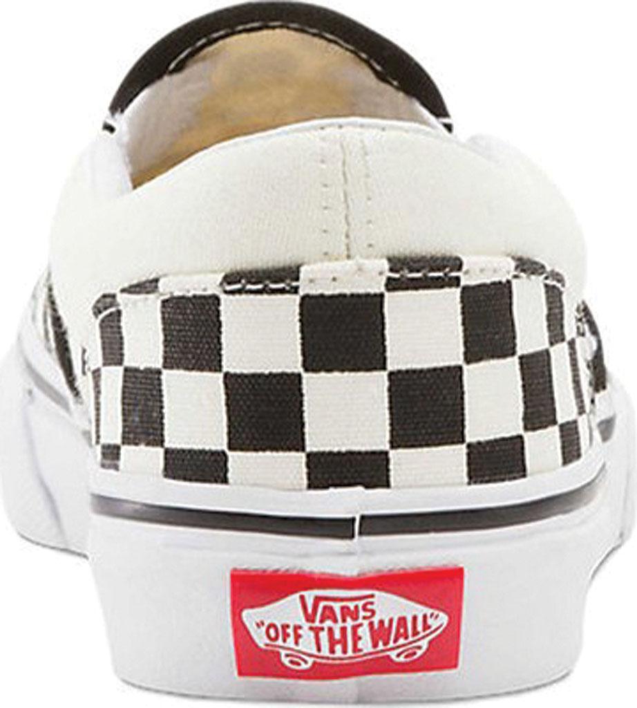 Children's Vans Classic Slip-On, Checkerboard Black/Classic White, large, image 4