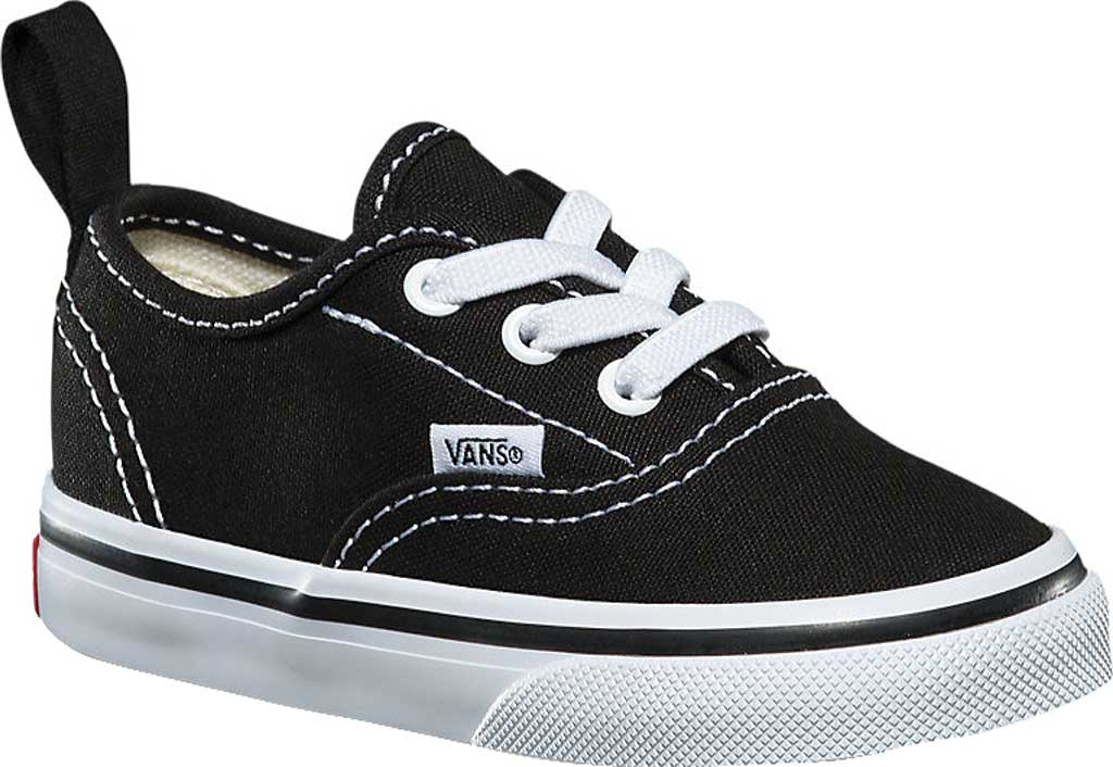 Infant Vans Authentic Elastic Lace Sneaker, Black/True White, large, image 1
