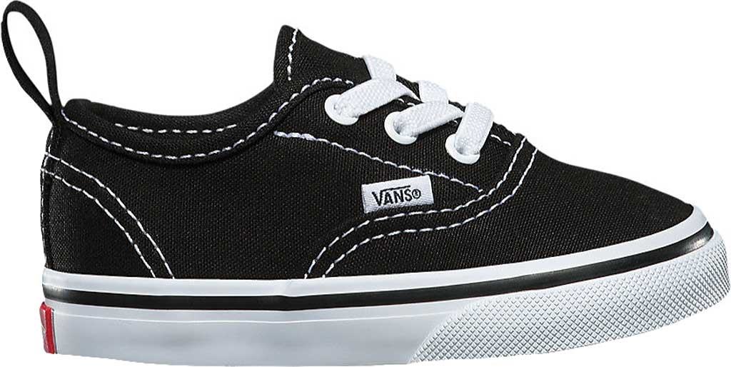 Infant Vans Authentic Elastic Lace Sneaker, Black/True White, large, image 2
