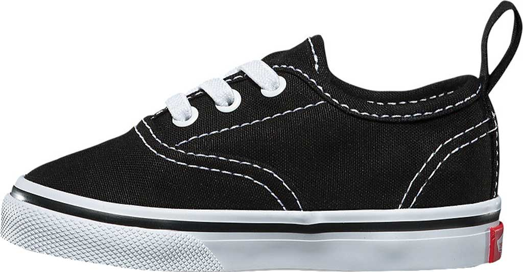 Infant Vans Authentic Elastic Lace Sneaker, Black/True White, large, image 3