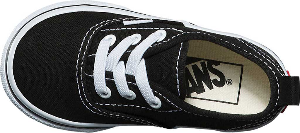 Infant Vans Authentic Elastic Lace Sneaker, Black/True White, large, image 4