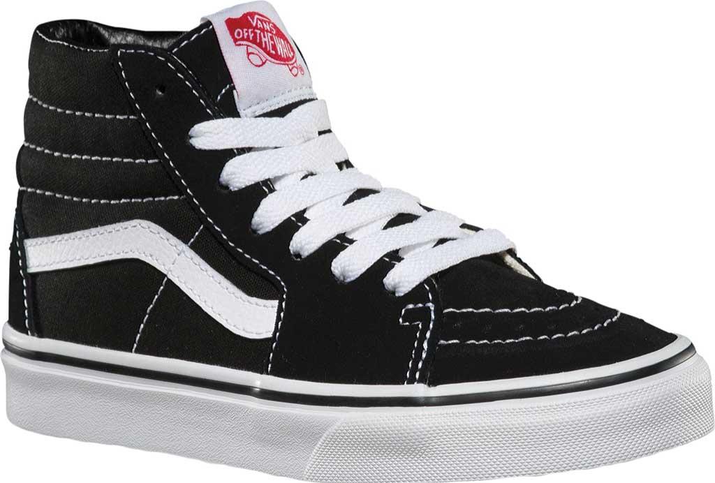 Children's Vans Sk8-Hi Sneaker, Black/True White, large, image 1