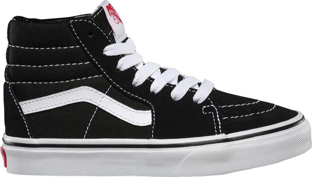 Children's Vans Sk8-Hi Sneaker, Black/True White, large, image 2