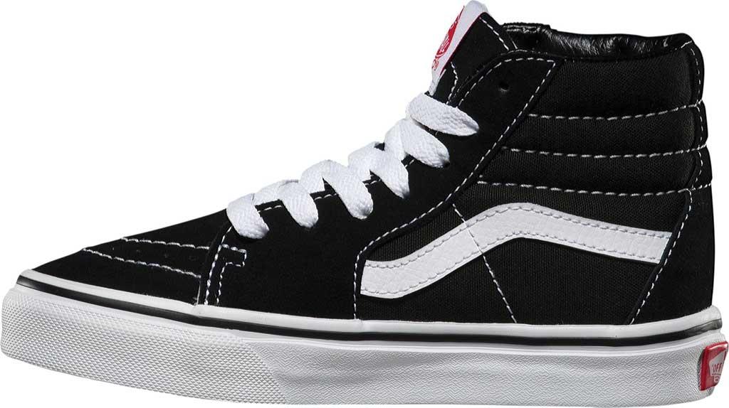Children's Vans Sk8-Hi Sneaker, Black/True White, large, image 3