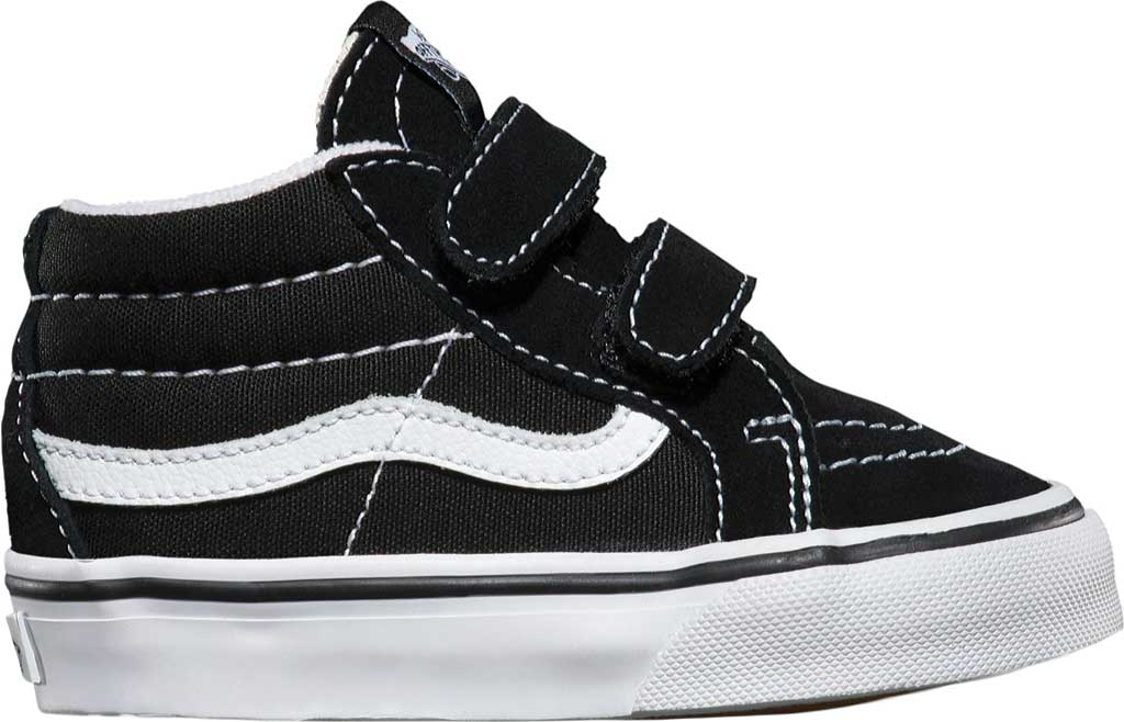 Infant Vans Sk8-Mid Reissue V Sneaker, Black/True White, large, image 2