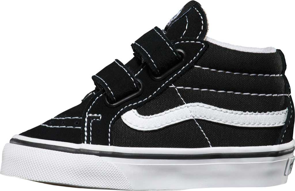 Infant Vans Sk8-Mid Reissue V Sneaker, Black/True White, large, image 3