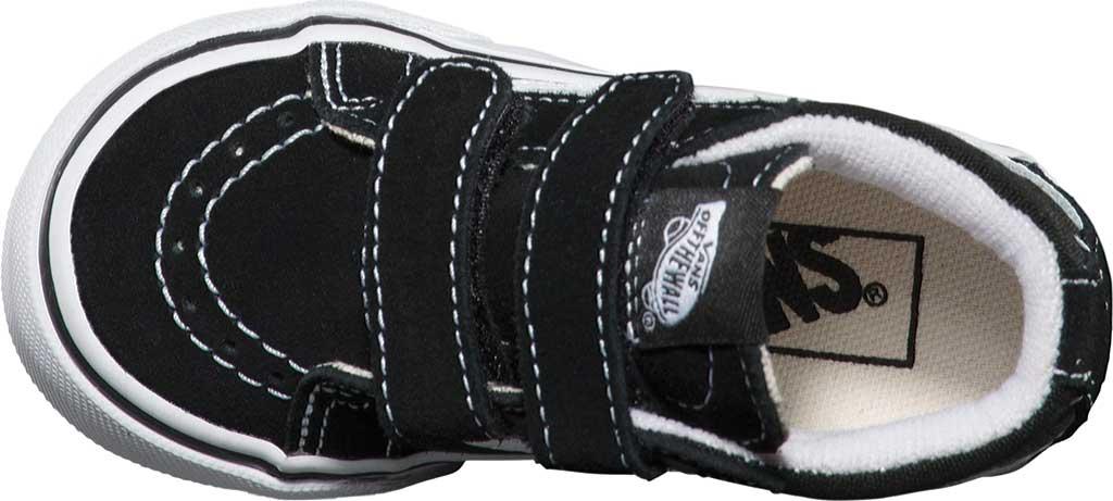Infant Vans Sk8-Mid Reissue V Sneaker, Black/True White, large, image 4