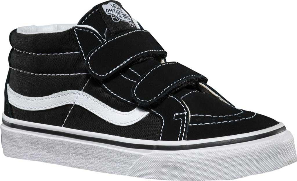 Children's Vans Sk8-Mid Reissue V Sneaker, Black/True White, large, image 1