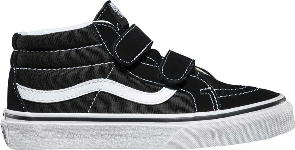 Children's Vans Sk8-Mid Reissue V Sneaker, Black/True White, large, image 2