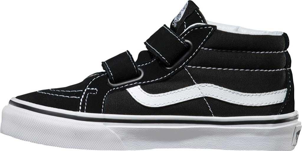 Children's Vans Sk8-Mid Reissue V Sneaker, Black/True White, large, image 3
