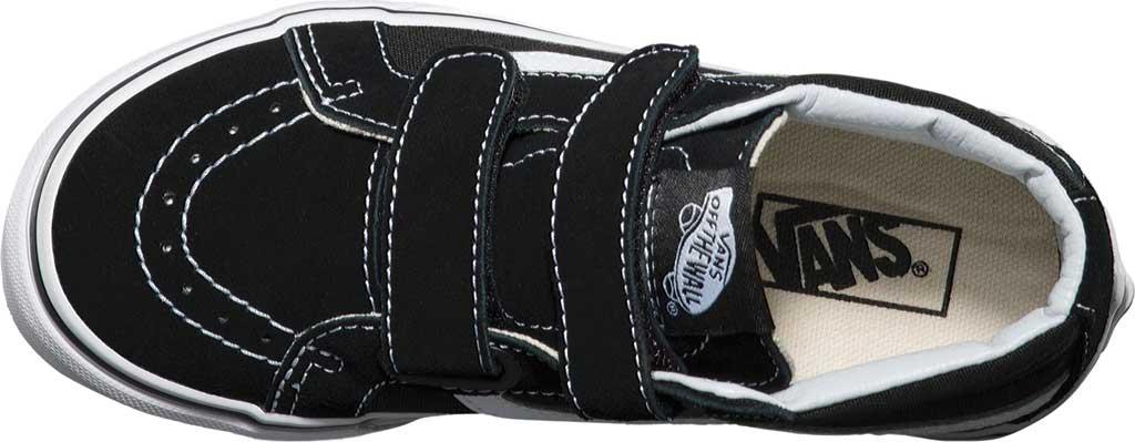 Children's Vans Sk8-Mid Reissue V Sneaker, Black/True White, large, image 4