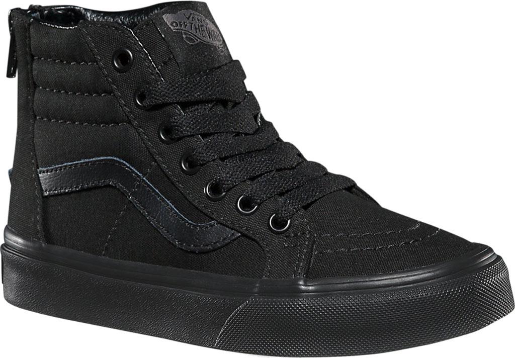 Children's Vans Sk8-Hi Zip Sneaker, (Pop Check) Black/Black, large, image 1
