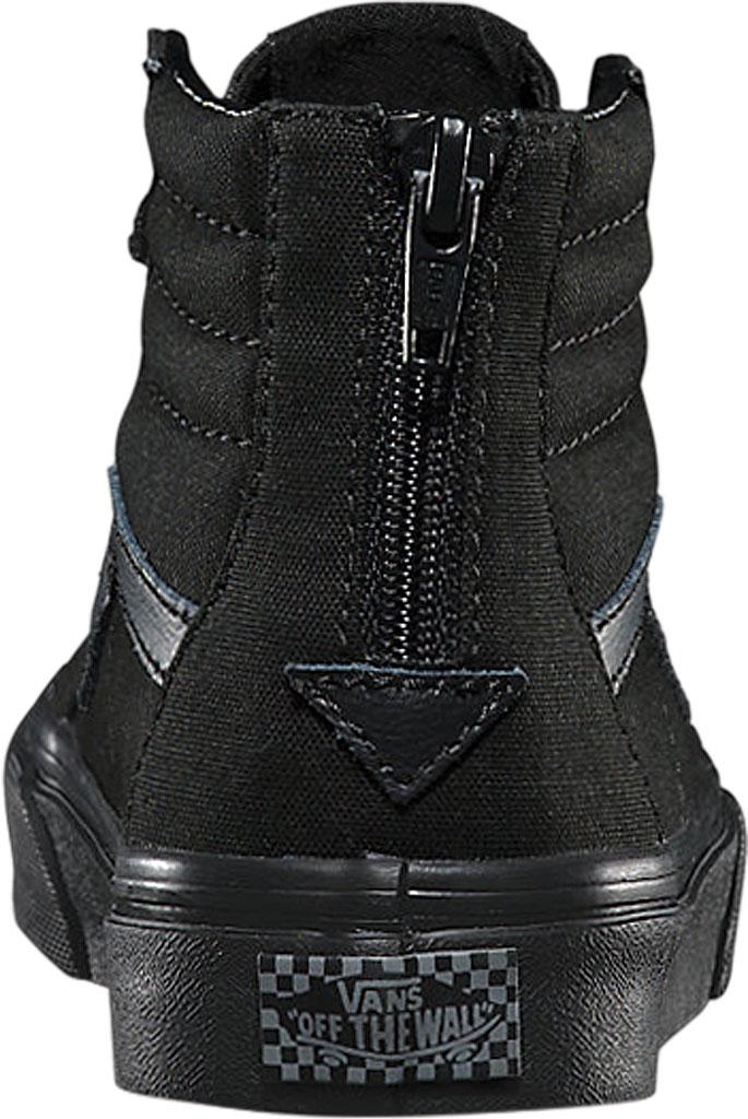 Children's Vans Sk8-Hi Zip Sneaker, (Pop Check) Black/Black, large, image 3