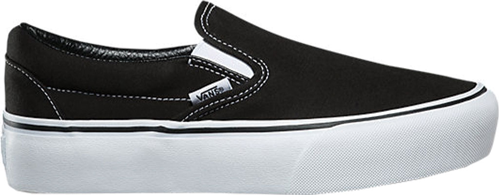 Vans Classic Slip-On Platform Sneaker, Black Canvas/Leather, large, image 2
